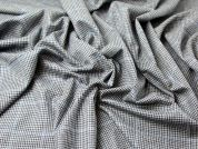 English Merino Wool & Cashmere Check Suiting Dress Fabric  Blue