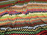 Chevron Stripe Print Stretch Jersey Knit Dress Fabric  Multicoloured