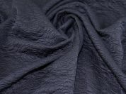 Textured Jersey Knit Fabric  Navy Blue