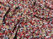 Floral Print Polyester Dress Fabric  Multicoloured