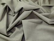 Italian Wool & Cashmere Pinstripe Suiting Dress Fabric  Taupe