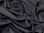 Portuguese Lightweight Wool Blend Stretch Suiting Dress Fabric  Black