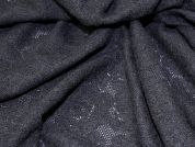 Spanish Wool Blend Knitted Texture Stretch Jersey Dress Fabric  Black