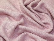 Textured Weave Wool Coat Weight Dress Fabric  Pink