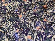 Rainforest Print Viscose Stretch Jersey Knit Dress Fabric  Multicoloured