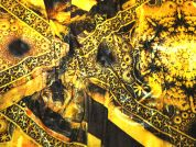 Italian Stretch Velvet Dress Fabric  Yellow Gold