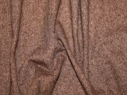 Tweed Wool Blend Suiting Dress Fabric  Chestnut