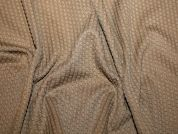 Textured Stretch Jersey Knit Dress Fabric  Camel Brown