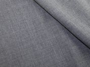 Wool & Polyester Blend Suiting Dress Fabric  Grey