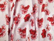 Floral Woven Brocade Dress Fabric  Pink & Red