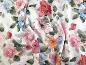 Italian Floral Woven Stretch Brocade Dress Fabric  Pastels