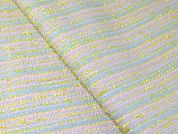 Pastel Chenille Tweed Coating Dress Fabric  Aqua & Lemon