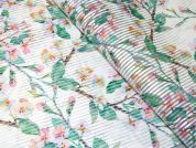 Floral Print Sheer Stripe Woven Voile Dress Fabric  Multicoloured