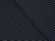 Stripe Ponte Roma Stretch Jersey Dress Fabric  Navy Blue & White