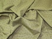Paisley Cotton Lawn Fabric  Khaki