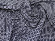Stretch Cotton Twill Fabric  Blue & White