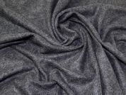 Wool Knit Coating Fabric  Charcoal