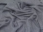 Stretch Wool Suiting Fabric  Navy Blue