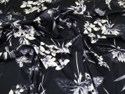 Floral Stretch Cotton Fabric  Midnight