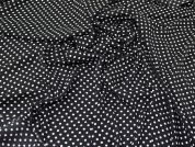 Spotty Georgette Fabric  Black & White