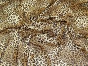 Leopard Print Georgette Fabric  Brown