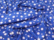 Spotty Crepe Fabric  Blue