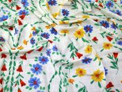 Floral Cotton Gauze Fabric  Multicoloured