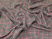 Check Suiting Fabric  Red, Black & Cream