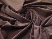 Cotton Velvet Fabric  Chocolate Brown