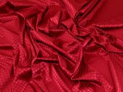 Stretch Satin Jacquard Fabric  Wine