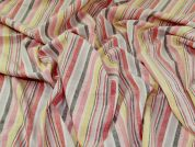 Linen Cotton Fabric  Multicoloured