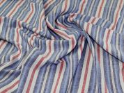 Woven Viscose Fabric  Blue & Red