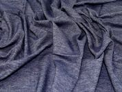 Cotton Linen Denim Fabric  Blue