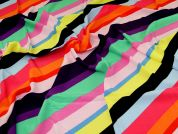Viscose Crepe Fabric  Rainbow