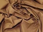 Plain Stretch Cotton Shirting Dress Fabric  Coffee Brown