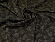 Ponte Roma Knit Fabric  Black Bronze