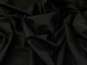 Ponte Roma Knit Fabric  Black