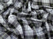 Plaid Check Wool Blend Coating Dress Fabric  Sky
