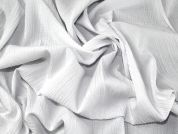 Crinkle Stretch Cotton Blend Dress Fabric  White