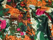 Floral Print Poly Spandex Jersey Knit Dress Fabric  Multicoloured