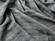 Check Weave Linen & Cotton Blend Dress Fabric  Grey
