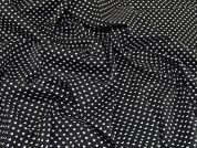 Repeat Heart Print Cotton Poplin Dress Fabric  Black & White