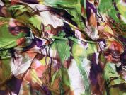 Abstract Print Viscose Stretch Jersey Knit Dress Fabric  Multicoloured