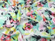 Floral Print Crinkle Cotton Voile Dress Fabric  Multicoloured