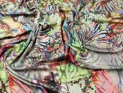 Abstract Print Ponte Roma Stretch Jersey Dress Fabric  Multicoloured