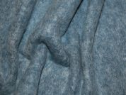 Italian Wool & Mohair Blend Coat Weight Dress Fabric  Blue