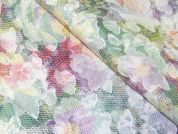 Floral Sheer Woven Voile Dress Fabric  Multicoloured