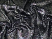 Metallic Fur Fabric  Black Oil