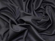 Italian Plain Wool Blend Stretch Jersey Knit Dress Fabric  Black