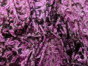 Abstract Texture Print Stretch Velvet Dress Fabric  Pink Purple